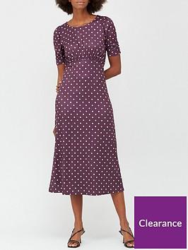 v-by-very-curved-waist-seam-jersey-midi-dress-burgundy-polka-dot-print