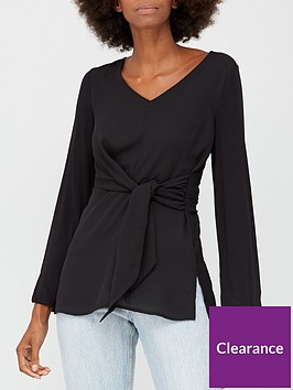 v-by-very-tie-waist-tunic-top-black