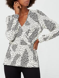 v-by-very-plisse-long-sleevenbspwrap-top-white-animal