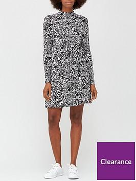 v-by-very-long-sleeve-high-neck-jerseynbspskater-dress-mono-animal