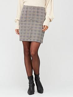 v-by-very-jacquard-button-detail-mini-skirt-check