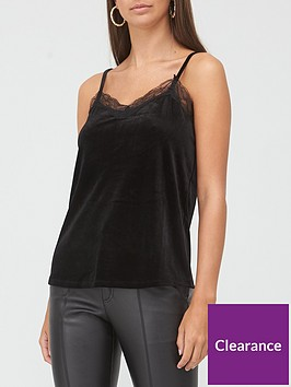 v-by-very-velvet-lace-cami-black
