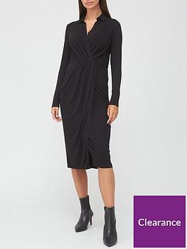 v-by-very-long-sleeve-jersey-collar-midi-dress-black