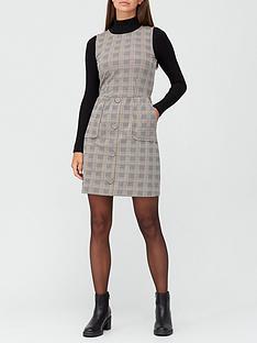 v-by-very-jacquard-pinafore-mini-dress