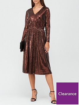 v-by-very-long-sleeve-sequin-wrap-midi-dress-bronze-sequin