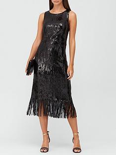 v-by-very-sleeveless-sequin-fringe-hem-midi-dress-black