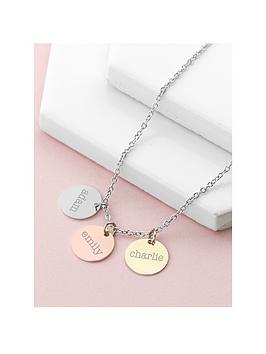 Treat Republic Treat Republic Personalised My Family Discs Necklace Picture