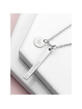 Treat Republic Treat Republic Personalised Sleek Bar And Disc Necklace Picture