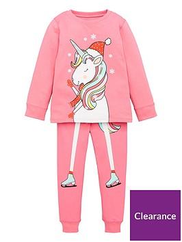 v-by-very-girls-christmas-skating-unicorn-pj-set-pink