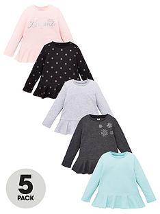 v-by-very-girls-5-pack-long-sleeve-frill-tops-multi