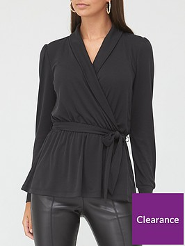 v-by-very-long-sleevenbspcollared-smart-top-black