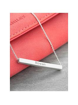 Treat Republic Treat Republic Personalised Horizontal Bar Necklace Picture