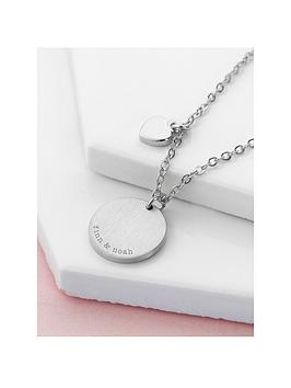 Treat Republic Treat Republic Personalised Heart And Disc Family Necklace Picture