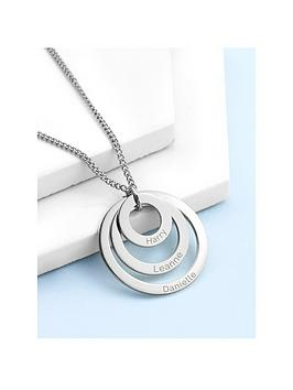 Treat Republic  Personalised Rings Of Love Necklace