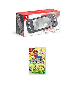 nintendo-switch-lite-grey-console-with-new-super-mario-bros-u-deluxe