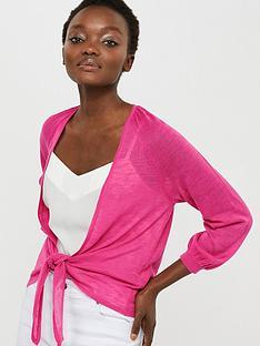 monsoon-libby-linen-blend-tie-shrug-pink
