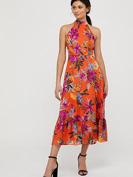 Monsoon Monsoon Trixie Burnout Tiered Dress - Orange Picture