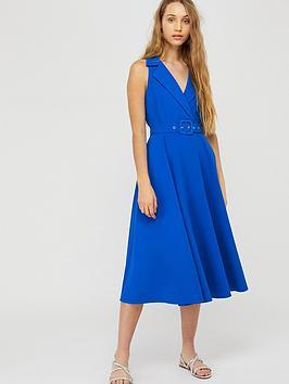 Monsoon Monsoon Isla Structured Midi Dress - Blue Picture