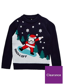 v-by-very-boys-cool-santa-christmas-jumper-navy