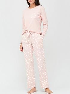 v-by-very-pocket-spot-jersey-pj-set-pink