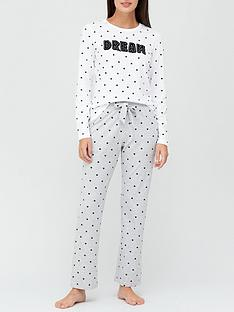 v-by-very-dream-jersey-spotty-pyjama-set-grey
