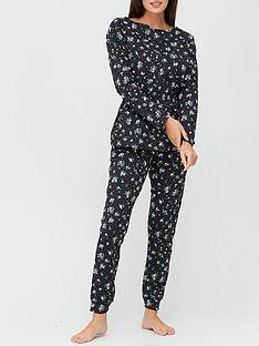 v-by-very-printed-cotton-waisted-top-amp-jogger-set-ditsy-print