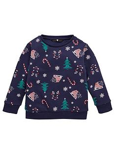 v-by-very-girls-christmas-all-over-print-sweat-navy