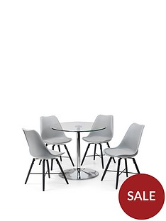 julian-bowen-kudos-80-cm-round-dining-tablenbspand-4nbspkari-chairs