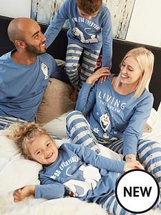 disney-frozen-unisex-kids-disney-frozen-olaf-family-pj-set-blue