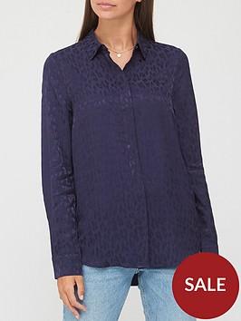 v-by-very-animal-jacquard-shirt-navy