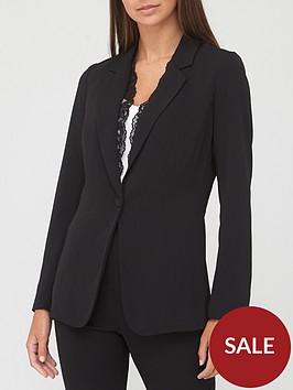 v-by-very-lace-trim-blazer-black