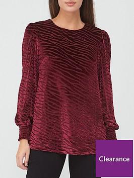 v-by-very-devore-shirred-cuff-blouse-zebra-print