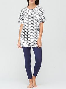 v-by-very-spot-longline-t-shirt-and-legging-pyjamas-print