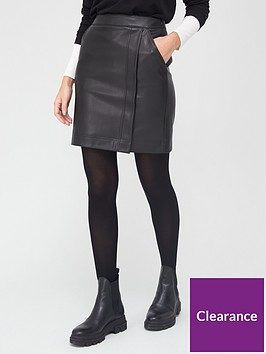 v-by-very-pu-mini-skirt-black