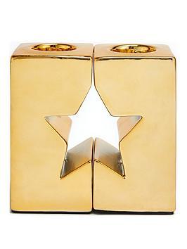 gold-star-cut-out-tealight-holder