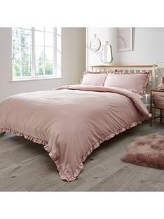 everyday-collection-ruffle-edge-duvet-cover-set--nbsp-pink