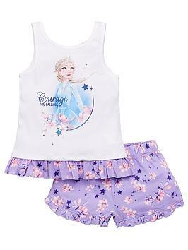 Disney Frozen Disney Frozen Girls Elsa Courage Vest Shorty Pyjamas - White Picture