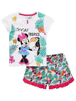 Minnie Mouse Minnie Mouse Girls Toucan Tropics Shorty Pyjamas - White Picture