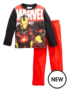 marvel-boys-marvel-iron-man-long-sleeve-pjs-blackred