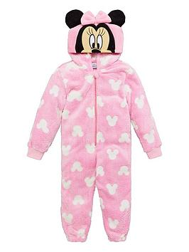 Minnie Mouse Minnie Mouse Girls Hood Detail All-In-One - Pink Picture