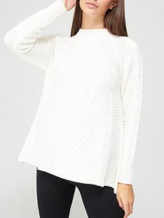 v-by-very-peplum-hem-cable-jumper-ivory