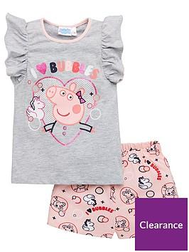 peppa-pig-girlsnbspi-love-bubbles-frill-vest-shorty-pyjamas-grey