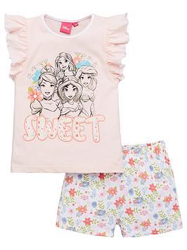 disney-princess-girlsnbspfrill-vest-shorty-pyjamas-pink