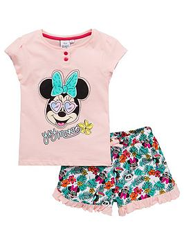 Minnie Mouse Minnie Mouse Girls Sunglasses Shorty Pyjamas - Pink Picture