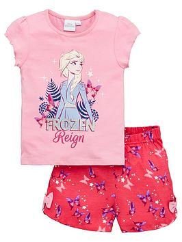 Disney Frozen Disney Frozen Girls Elsa Reign Shorty Pyjamas - Pink Picture