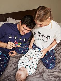 very-man-mens-family-christmas-penguin-pjnbspset-navy