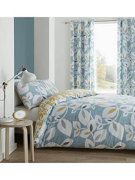 Catherine Lansfield Catherine Lansfield Inga Leaf Duvet Cover Set Picture