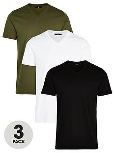 very-man-3-pack-v-neck-t-shirts-blackwhitekhaki