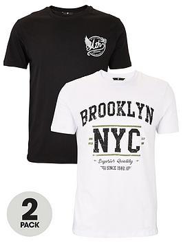 very-man-2-pack-varsity-graphic-t-shirts-blackwhite