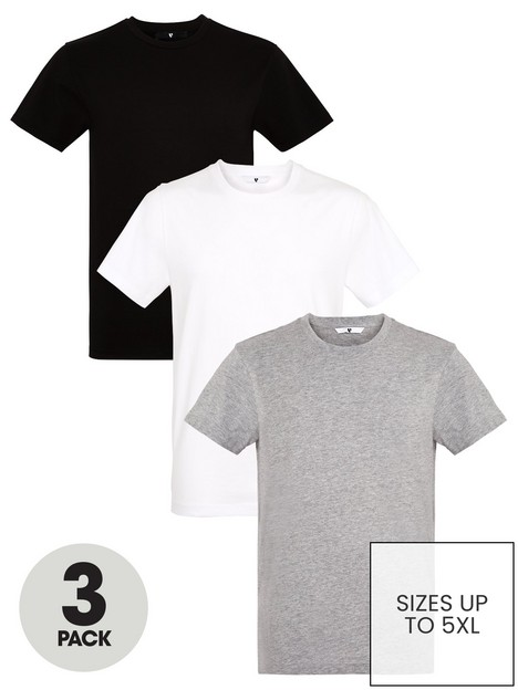 very-man-essentials-3-pack-crew-neck-t-shirt-blackwhitegrey